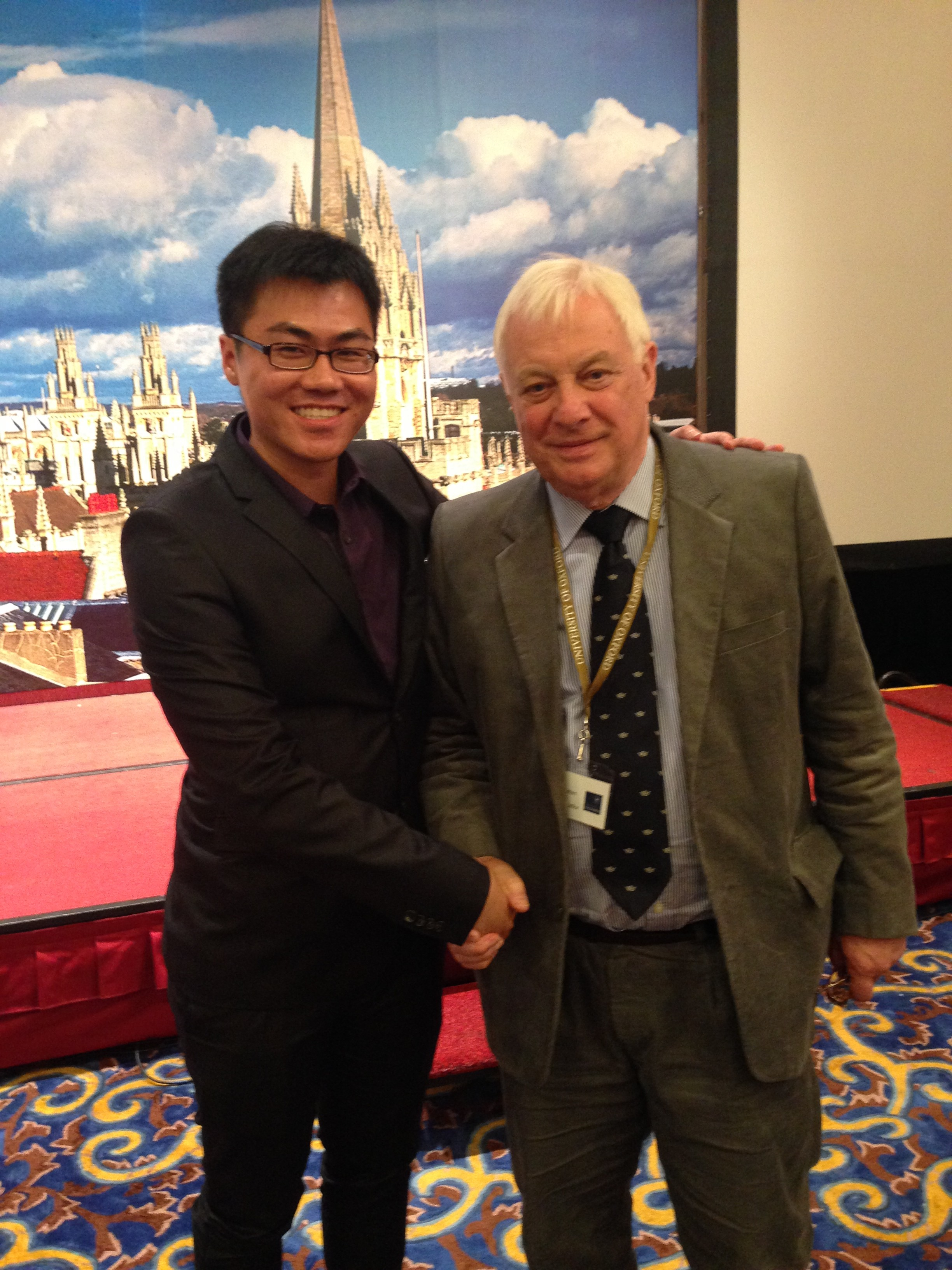 Lee Chon with Lord Patten (Chris Patten)